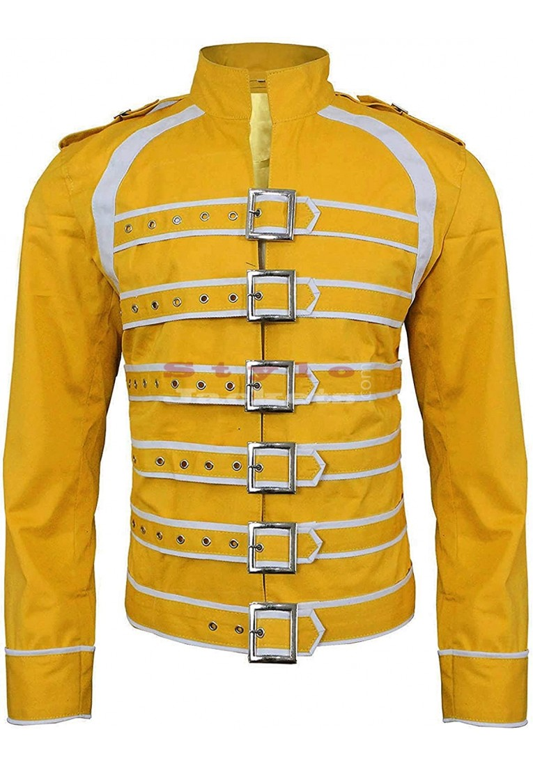 Freddie Mercury Yellow Concert Yellow Cotton Jacket