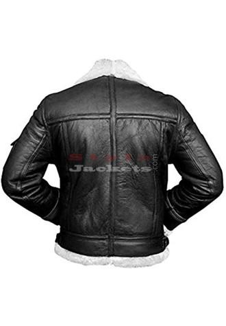 B3 Aviator Black Real Sheepskin Flight Leather Jacket