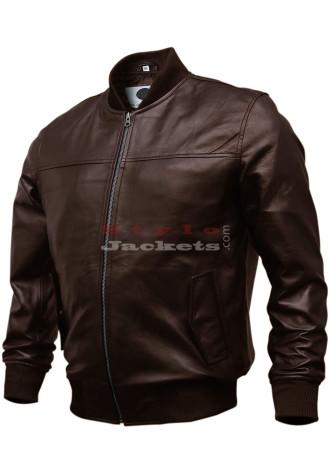 Varsity Bomber Genuine Lambskin Leather Jacket