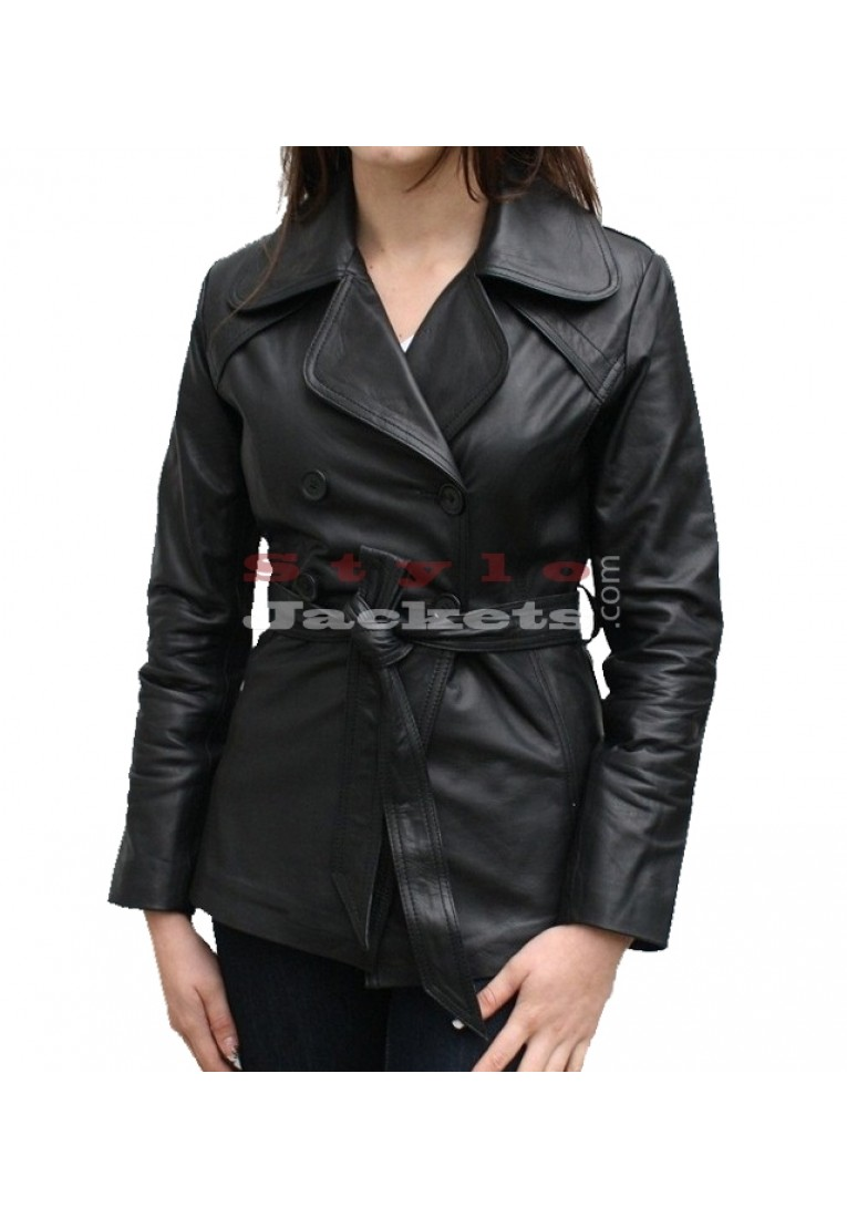 Classic Women Leather Blazer