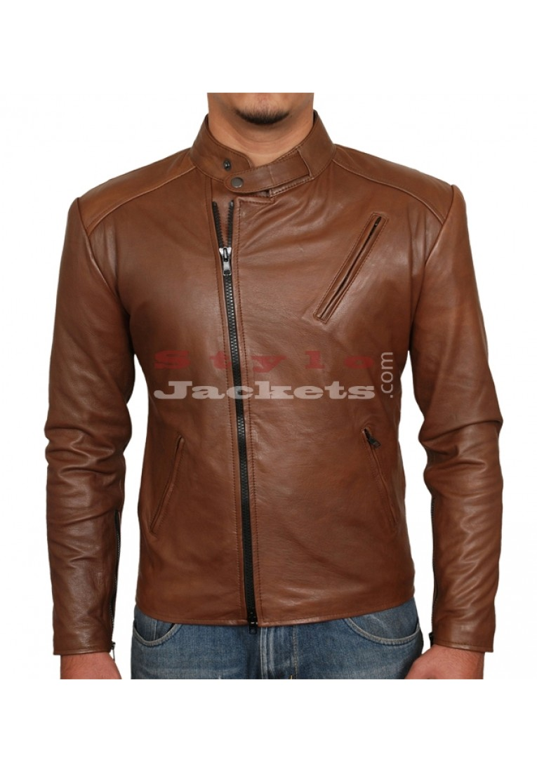 Iron Man Replica Brown Movie Leather Jacket