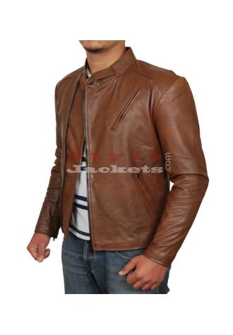Iron Man Slim Fit Brown Movie Leather Jacket