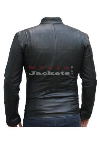 Iron Man Replica Black Movie Leather Jacket