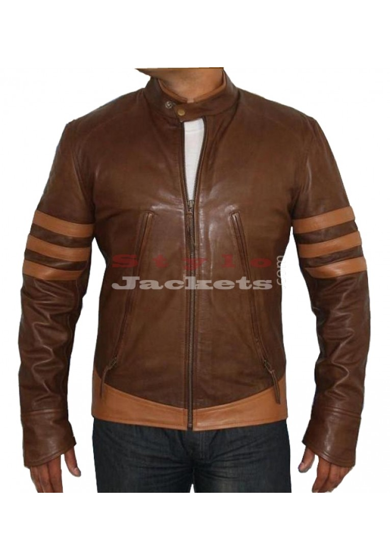 X - Men Origins Wolverine Replica Movie Leather Jacket