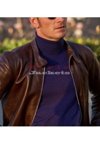 X-Men 1st Class Replica Brown Movie Leather Jacket