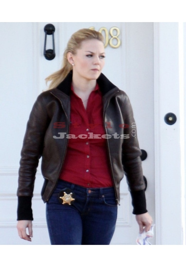Stylish Brown Once Upon A Time Jennifer Morrison Jacket