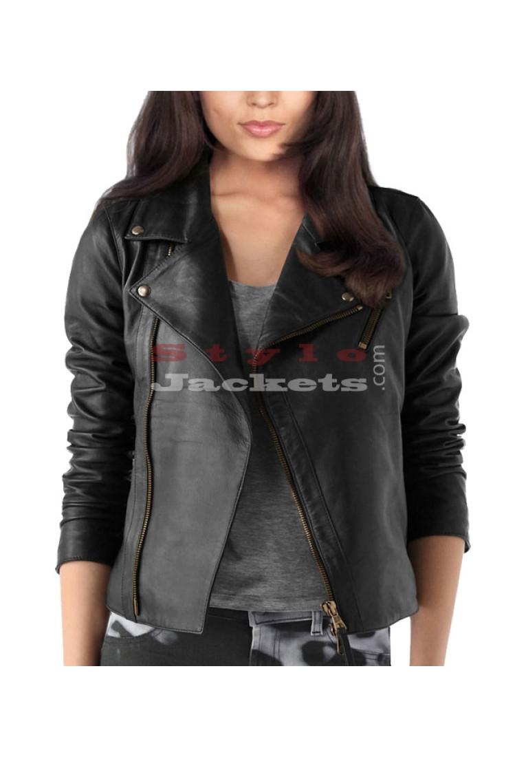 Lined Women Biker Jacket for Women