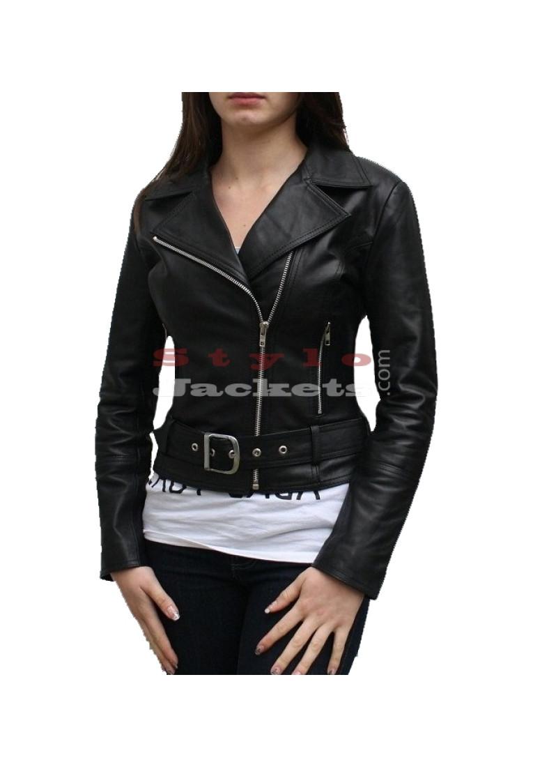 Spirit - Women Slim Fit Bikers Jacket