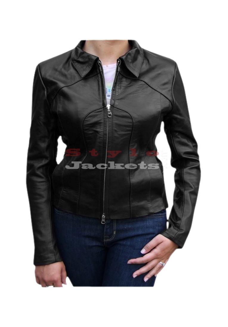Vivica Vintage Style Leather Jacket