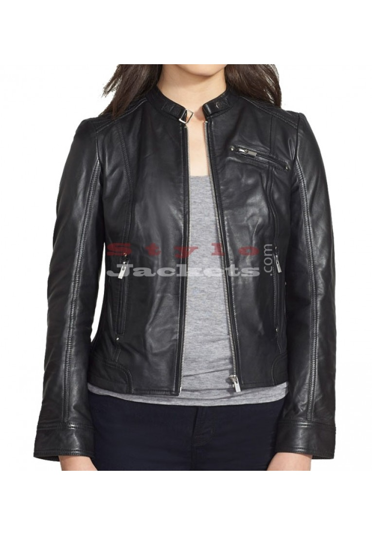Women Quilted Leather Jacket