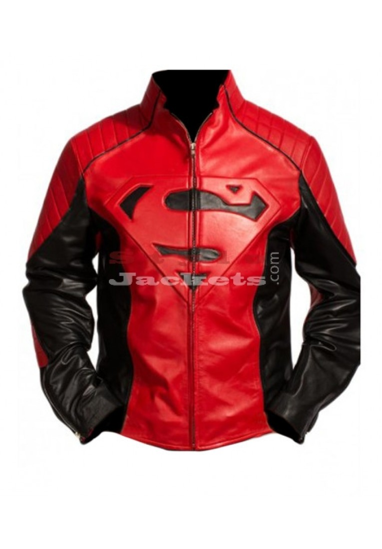 Superman Smallville Red and Black Jacket