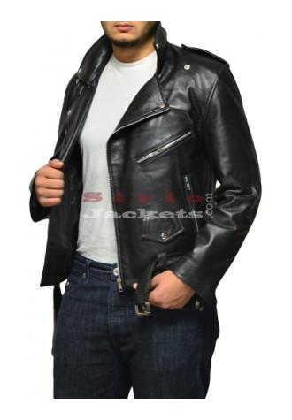 Arnold Terminator 2 Movie Leather Jacket