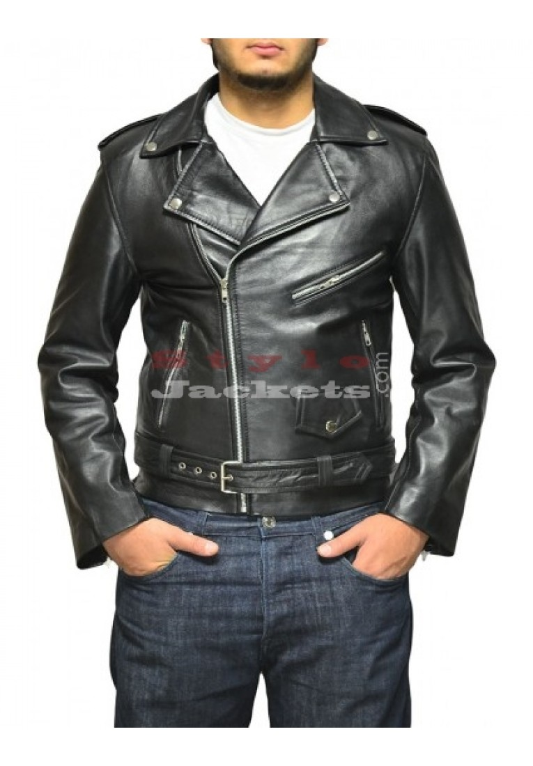 Arnold Terminator 2 Movie Leather Jacket