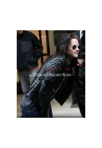 Kristen Stewart Paris Fashion Black Slim Fit Bikers Jacket