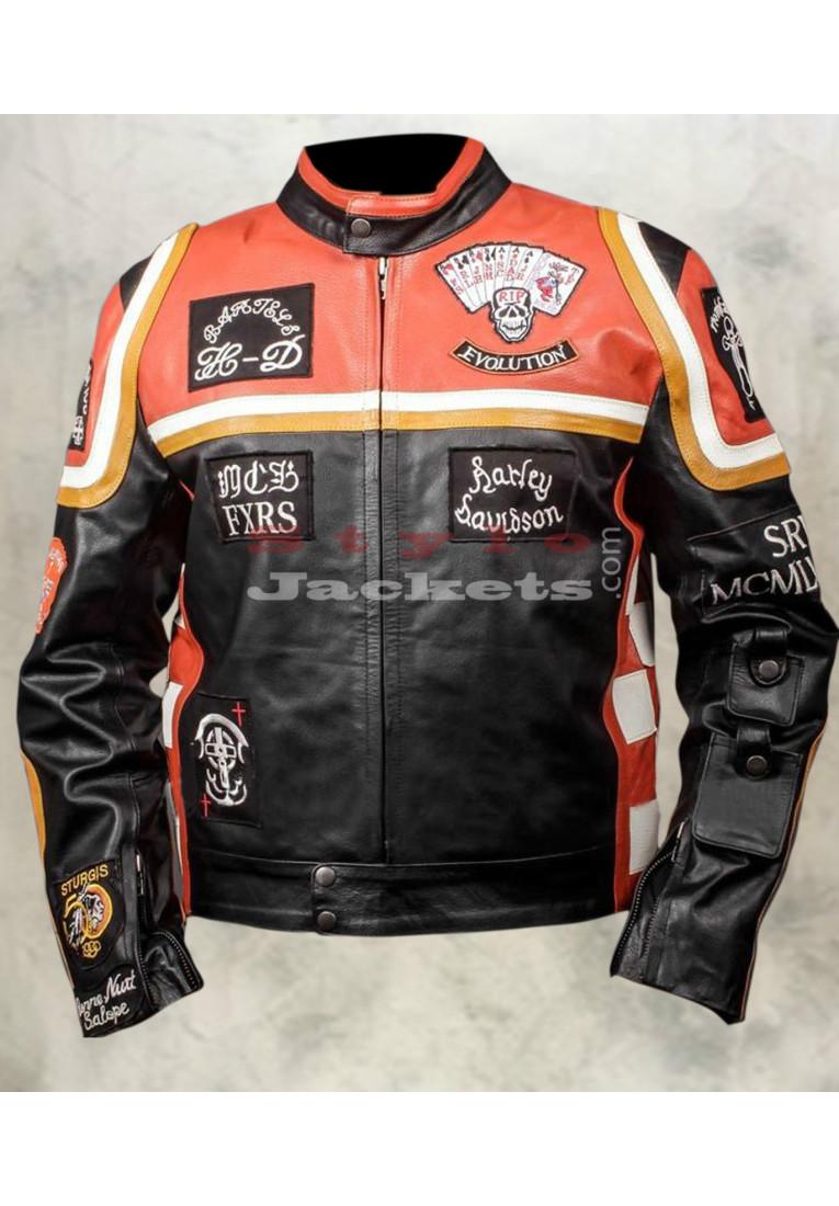 Harley Davidson & Marlboro Bikers Leather Jacket