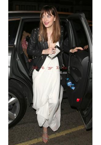 Dakota Johnson Fifty Shades London Premiere Bikers Leather Jacket