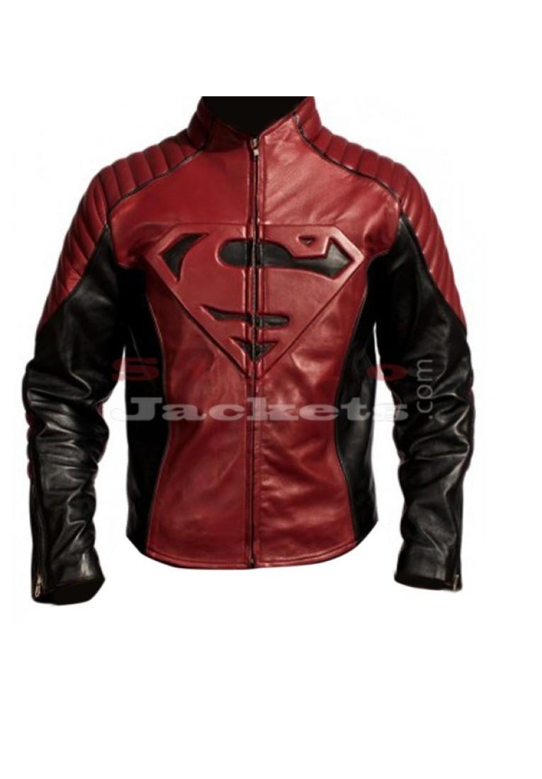 Superman Man Of Steel Exclusive Black With Maroon Jacket