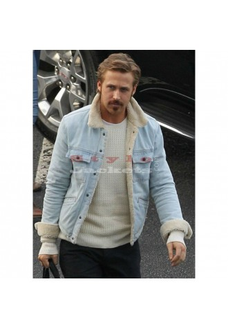 Nice Guys Ryan Gosling Denim Fur Blue Jacket