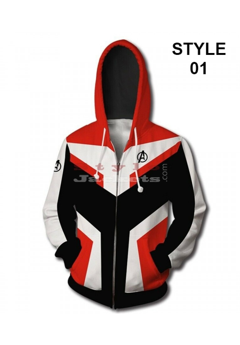 Avengers Endgame Quantum Realm Fleece Hoodie Jacket