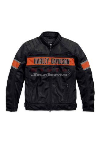 Men's Trenton Black Harley Davidson Riding Jacket